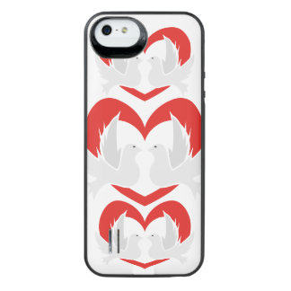 Illustration peace doves with heart iPhone SE/5/5s battery case