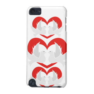 Illustration peace doves with heart iPod touch 5G covers
