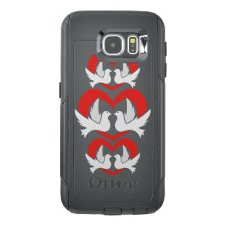 Illustration peace doves with heart OtterBox samsung galaxy s6 case