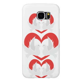 Illustration peace doves with heart samsung galaxy s6 cases
