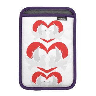 Illustration peace doves with heart sleeve for iPad mini