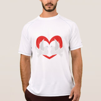 Illustration peace doves with heart T-Shirt
