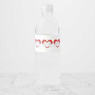 Illustration peace doves with heart water bottle label