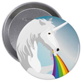 Illustration puking Unicorns 10 Cm Round Badge