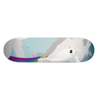 Illustration puking Unicorns 18.4 Cm Mini Skateboard Deck