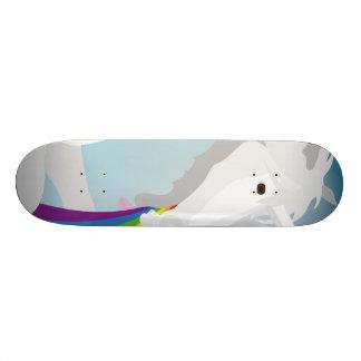 Illustration puking Unicorns 20 Cm Skateboard Deck