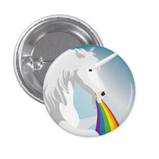Illustration puking Unicorns 3 Cm Round Badge