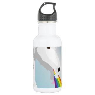 Illustration puking Unicorns 532 Ml Water Bottle