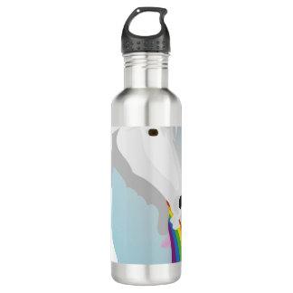Illustration puking Unicorns 710 Ml Water Bottle