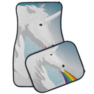 Illustration puking Unicorns Car Mat