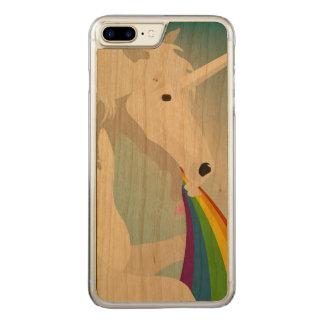 Illustration puking Unicorns Carved iPhone 8 Plus/7 Plus Case