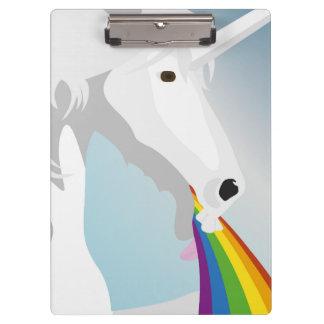 Illustration puking Unicorns Clipboard