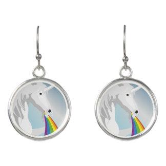 Illustration puking Unicorns Earrings