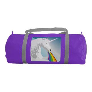 Illustration puking Unicorns Gym Bag