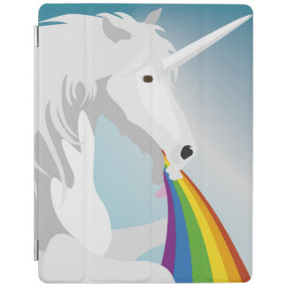 Illustration puking Unicorns iPad Cover