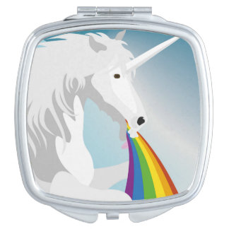 Illustration puking Unicorns Makeup Mirrors