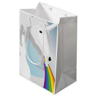 Illustration puking Unicorns Medium Gift Bag