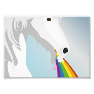 Illustration puking Unicorns Photo Print