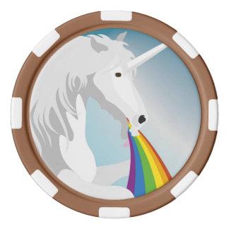 Illustration puking Unicorns Poker Chips