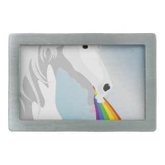 Illustration puking Unicorns Rectangular Belt Buckles