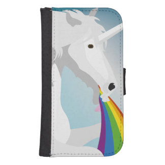 Illustration puking Unicorns Samsung S4 Wallet Case
