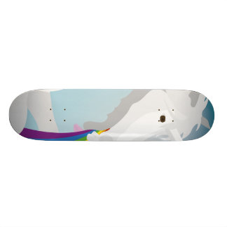 Illustration puking Unicorns Skateboard Decks