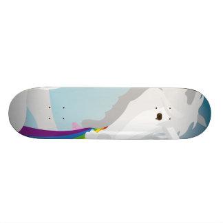 Illustration puking Unicorns Skateboards