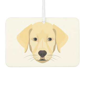 Illustration Puppy Golden Retriver Car Air Freshener