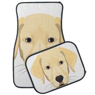 Illustration Puppy Golden Retriver Car Mat