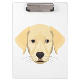 Illustration Puppy Golden Retriver Clipboard