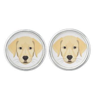 Illustration Puppy Golden Retriver Cuff Links