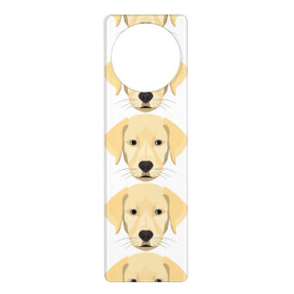 Illustration Puppy Golden Retriver Door Hanger