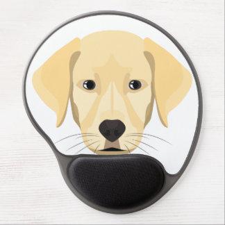 Illustration Puppy Golden Retriver Gel Mouse Pad