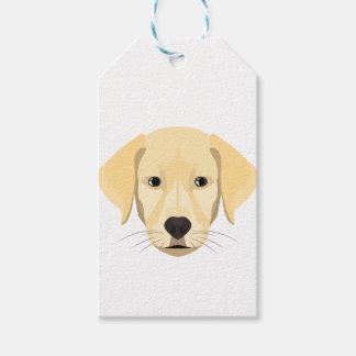 Illustration Puppy Golden Retriver Gift Tags