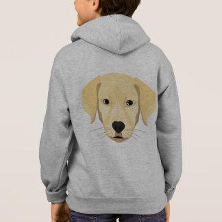 Illustration Puppy Golden Retriver Hoodie