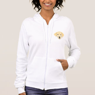 Illustration Puppy Golden Retriver Hoodie