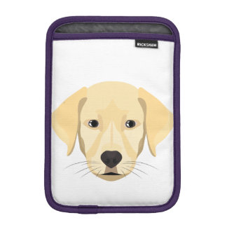 Illustration Puppy Golden Retriver iPad Mini Sleeve
