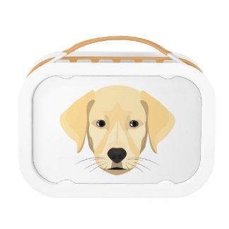 Illustration Puppy Golden Retriver Lunch Box