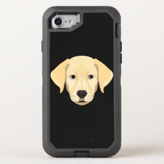 Illustration Puppy Golden Retriver OtterBox Defender iPhone 8/7 Case