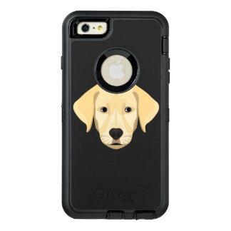 Illustration Puppy Golden Retriver OtterBox Defender iPhone Case