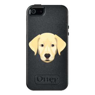 Illustration Puppy Golden Retriver OtterBox iPhone 5/5s/SE Case