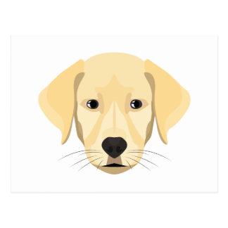 Illustration Puppy Golden Retriver Postcard