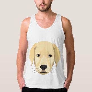 Illustration Puppy Golden Retriver Singlet