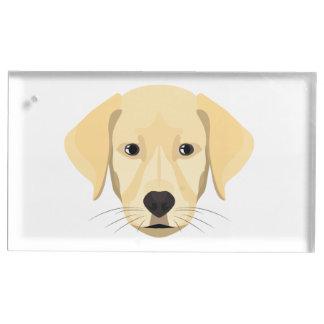Illustration Puppy Golden Retriver Table Card Holder