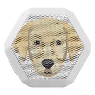 Illustration Puppy Golden Retriver White Bluetooth Speaker