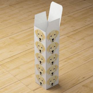 Illustration Puppy Golden Retriver Wine Box