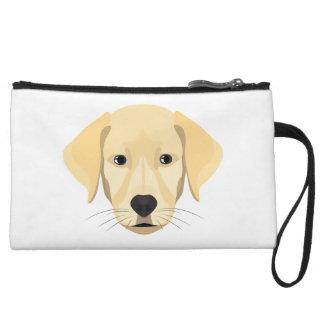 Illustration Puppy Golden Retriver Wristlet
