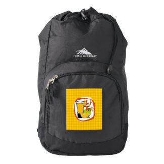 "Illustration Shot with lemon ""Shot Time"" Backpack"