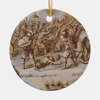 Illustration to 'The Iliad', 1760s (pen & ink, was Round Ceramic Decoration