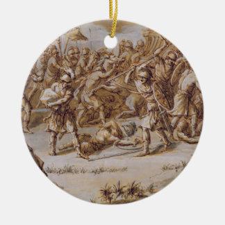 Illustration to 'The Iliad', 1760s (pen & ink, was Round Ceramic Decoration